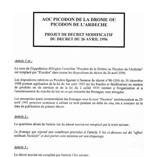 PICODON_Decret-au-journal-officiel_26-avril-1996
